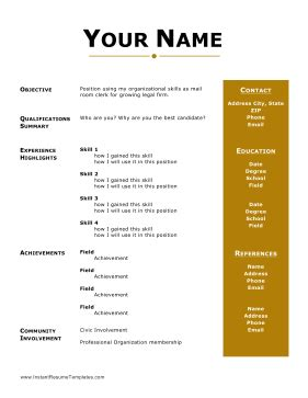 Professional Resume Template 60 Free Samples, Examples